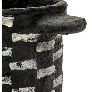 Pot Marie Noir Rayures Horizontales